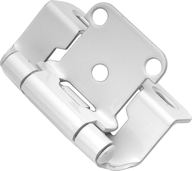 White Powder Coat Semi-Concealed Hinge (2-Pack) - Traditional - Hinges - by Simply Knobs And Pulls