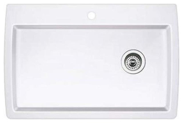 White Silgranit Sink : Blanco Diamond Silgranit Sink White - Contemporary - Kitchen Sinks ...
