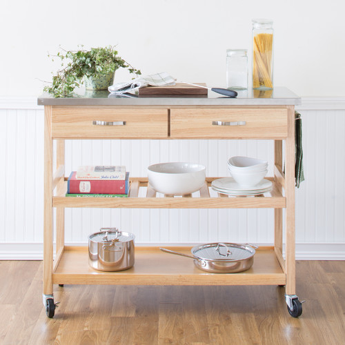 kitchen island cart with stainless steel top modern kitchen islands and kitchen carts. Black Bedroom Furniture Sets. Home Design Ideas