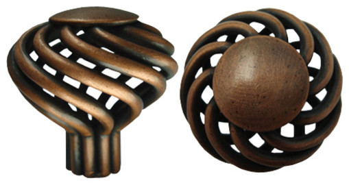 Birdcage Cabinet Knobs and Drawer Pulls traditional-cabinet-and-drawer-knobs