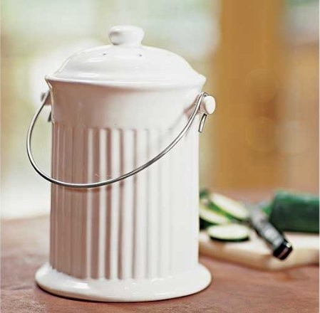 Ceramic Compost Crock modern-trash-and-recycling