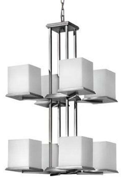 Fredrick Ramond FR49358SGC Eight Light Up Chandelier Soho* Collection chandeliers