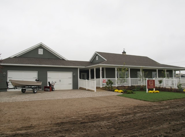 The simcoe farmhouse exterior other metro by quality homes - Quality home exteriors ...