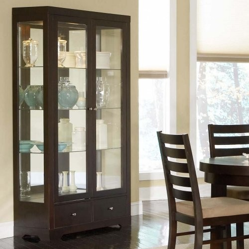 ... Silver Boulevard Curio China Cabinet modern-storage-units-and-cabinets