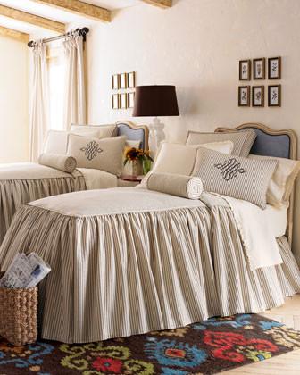 Legacy Home Colette Bed Linens Filler Skirted Coverlet/Bedspread traditional-sheets