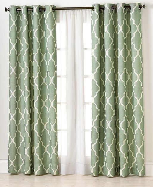 Macy's Curtains For Living Room : Elrene Medalia Panel, Spa - Contemporary - Curtains - by ...