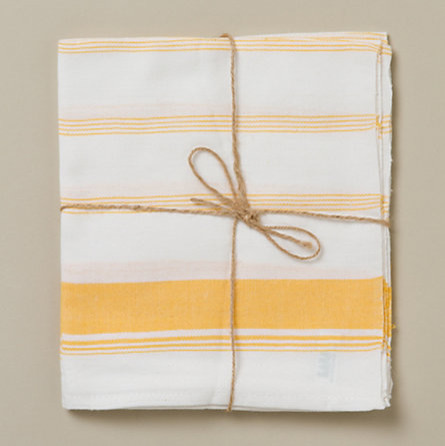 Kerala Striped Napkins, Yellow - contemporary - table linens ...