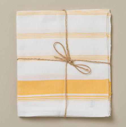 Kerala Striped Napkins, Yellow - contemporary - table linens ...