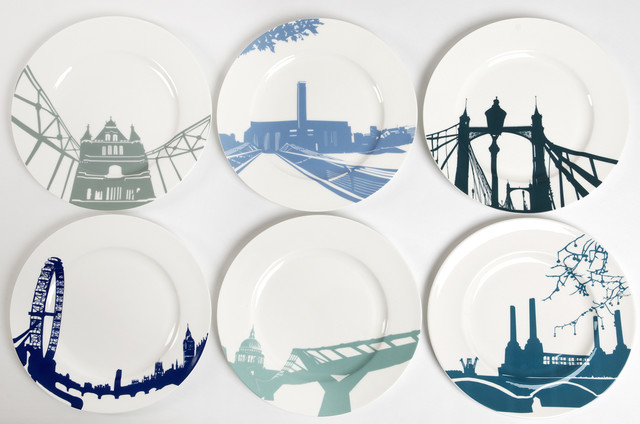 eclectic dinnerware by Bouf
