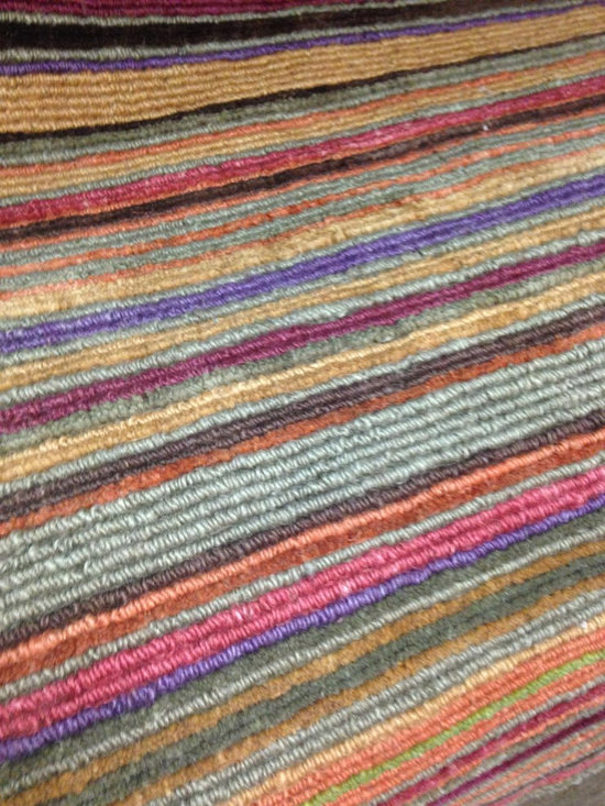 Natural Fiber Rugs & Carpets - Our Raya stripe jute rug is made to order. Any size you would like. Lead time is approximately 8 - 12 weeks.  Purchase at Hemphill's Rugs & Carpets in Orange County, CA.
