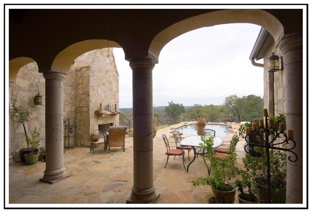 Tuscan Inspired Outdoor Living mediterranean-patio
