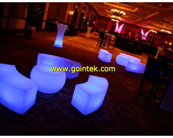 LED lighted benches -