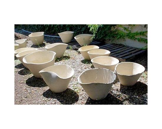 Organic-Shaped Branch Stoneware Hugging Pots -