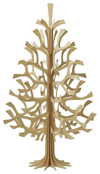 Lovi Birch Wood Christmas Tree contemporary-holiday-accents-and-figurines