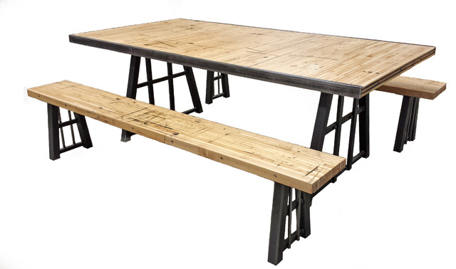 Maple boxcar table rustic-dining-sets