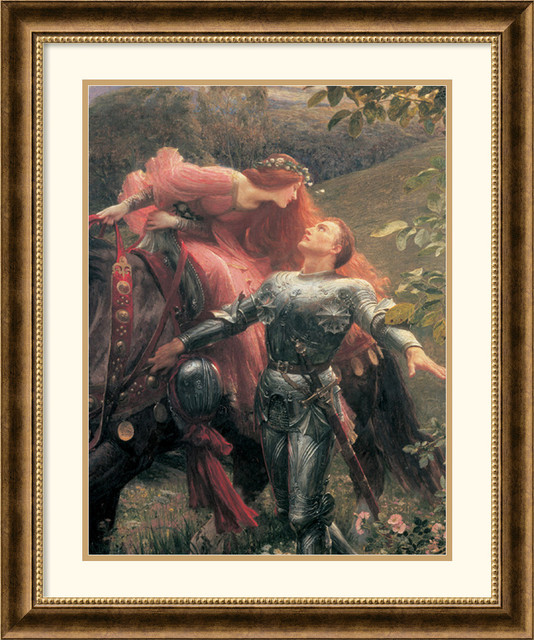 La Belle Dame Sans Merci (Detail) Framed Print by Sir Frank Bernard Dicksee traditional-prints-and-posters