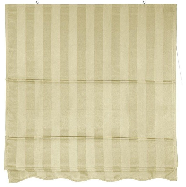 Striped Roman Shades - Cream - (72 in. x 72 in.) contemporary-roman-shades