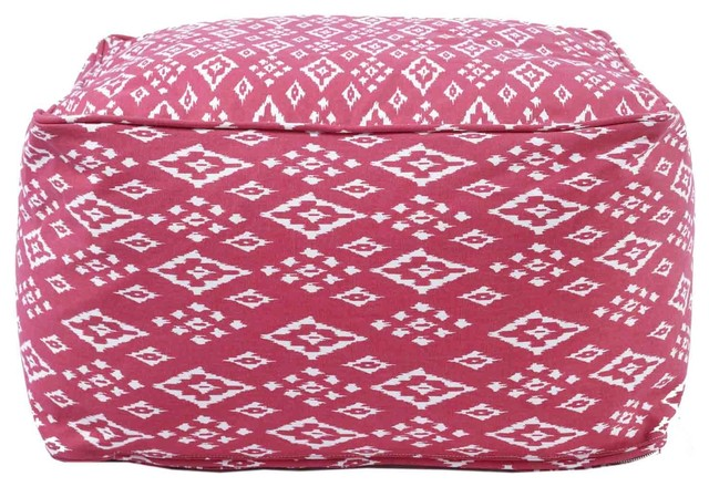 John Robshaw Textiles Pomegranate Square Bean Bags eclectic-footstools-and-ottomans