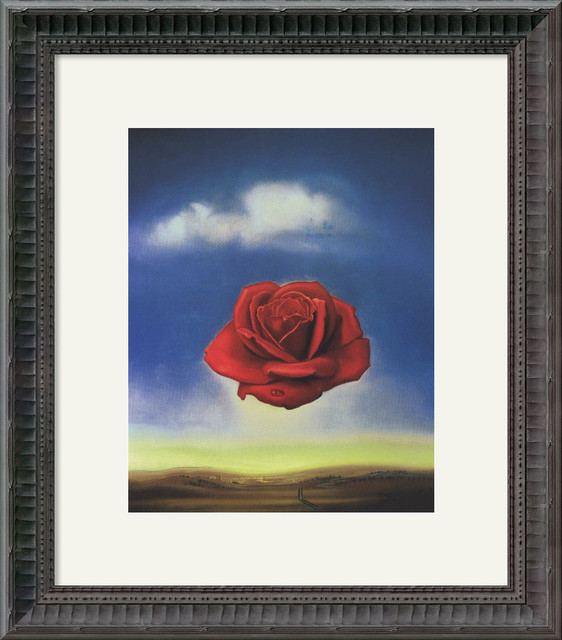 The Rose Framed Print by Salvador Dali traditional-prints-and-posters