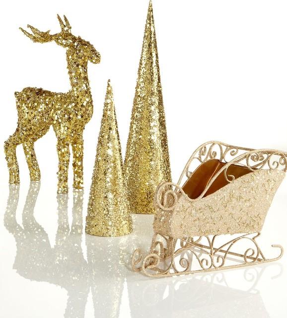 Holiday lane christmas decorations gold collection for Modern christmas decor