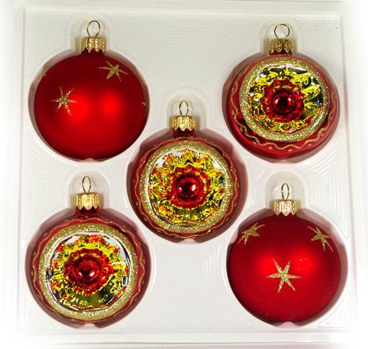 """Orbit"" Christmas Ornament set - Traditional - Christmas ..."