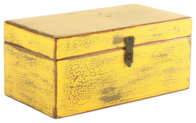 vintage yellow wooden box decorative boxes chicago
