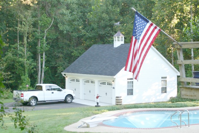 24x30 three car garage in davidsonville md traditional for Garage md auto