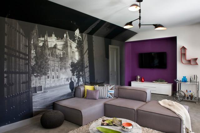 South Austin Suburban contemporary-family-room
