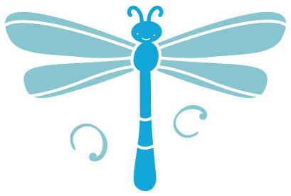 Dragonfly Stencil 1 for Painting - Contemporary - Wall Stencils - by My Wonderful Walls