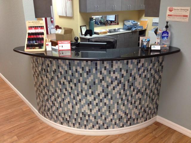 medical office reception desk modern