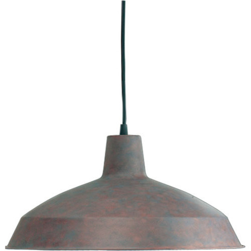 ... Industrial 1 Light Dome Shaped Pendant - Industrial - Pendant Lighting