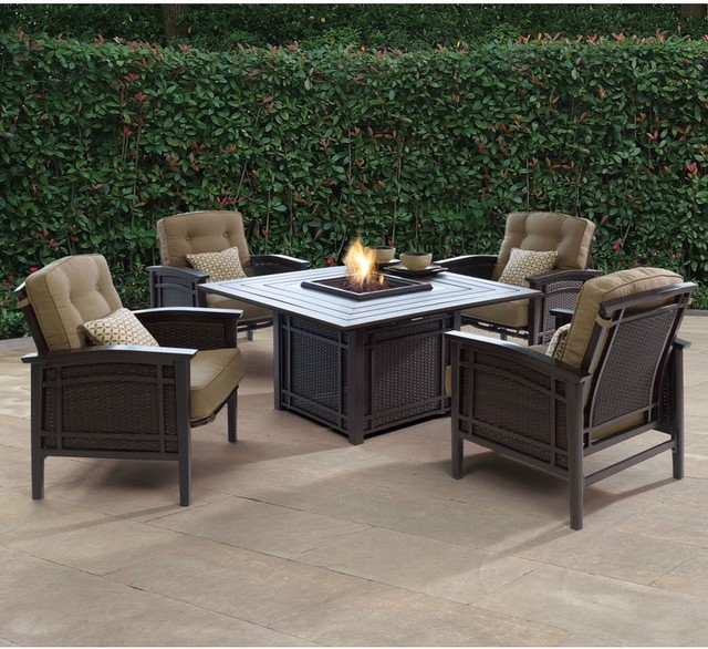 Armidale Fire Pit Conversation Set Patio Furniture Contemporary Patio Furnitu