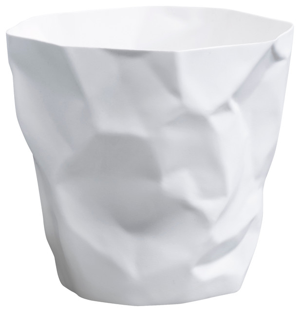 Essey of denmark bin bin wastebasket white contemporary wastebaskets by designerliners inc - Modern wastebasket ...