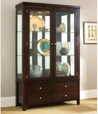 Steve Silver Wilson Curio Cabinet - Espresso - Modern - Furniture - by Hayneedle