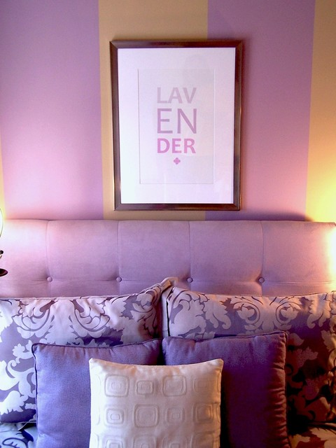 Lovely Lavender Bedroom contemporary bedroom