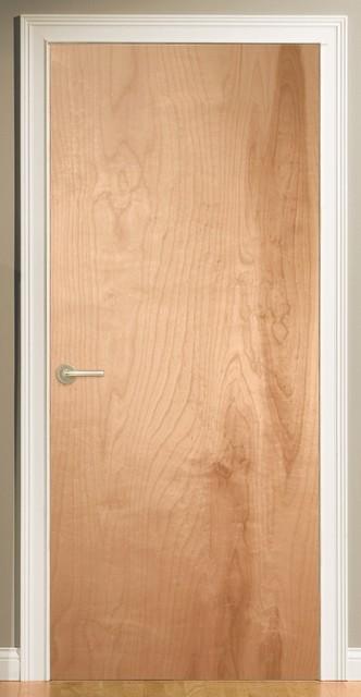 Natural Veneered Wooden Flush Door Design Mdf Living Room: Low Cost Interior Door Option For Loft Make-overs