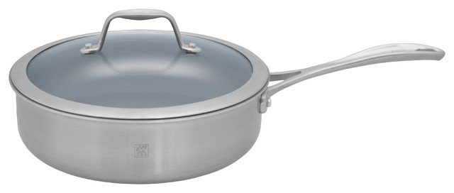 Henckels Spirit 3 Qt. Saut Pan with Lid - Thermolon Coated contemporary-cookware