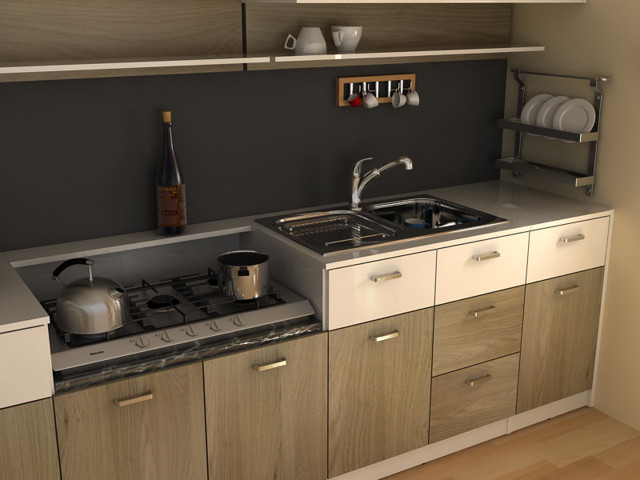 modern small kitchen - Modern - Kitchen Cabinetry - other metro