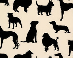 Dog Flock Velvet Wallpaper eclectic wallpaper