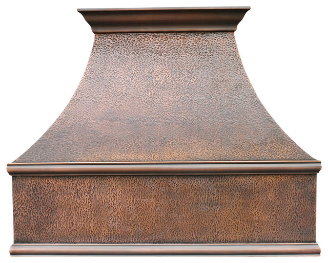 Rustic Range Hoods ~ Traditional copper range hood by world coppersmith