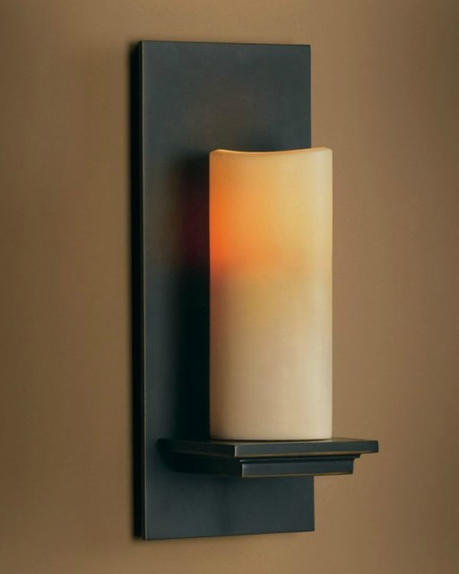 Black Indoor Wall Sconces : Indoor Hallway Black White Candlestick Wall Lighting - Industrial - Wall Sconces - other metro ...