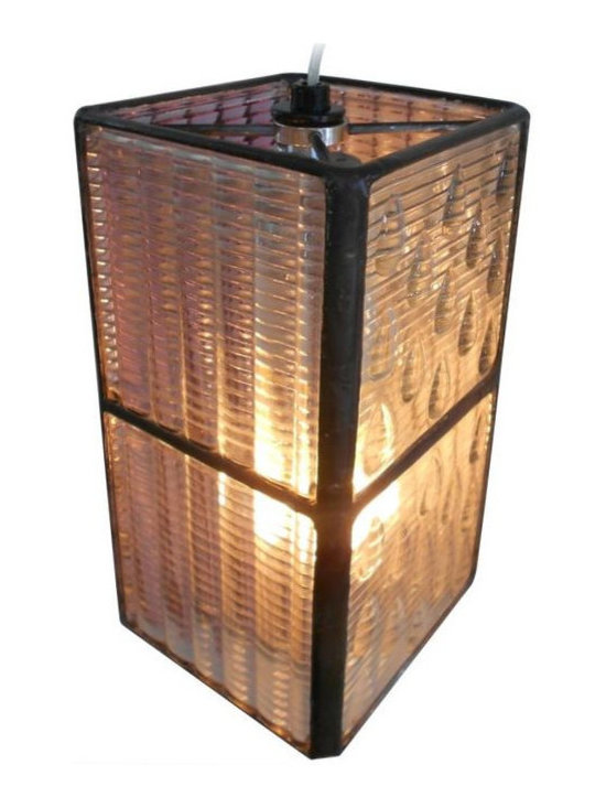Luxfer Tile Pendant Light - $780 Est. Retail - $390 on Chairish.com -