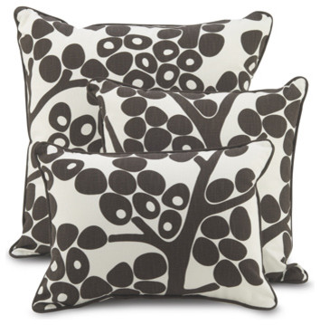 Oilo Pillow - Modern Berries - Brown modern pillows