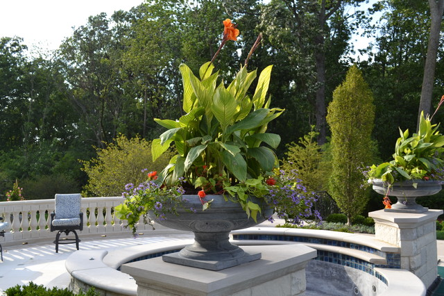 Solid Stone Planters and Urns garden-sculptures
