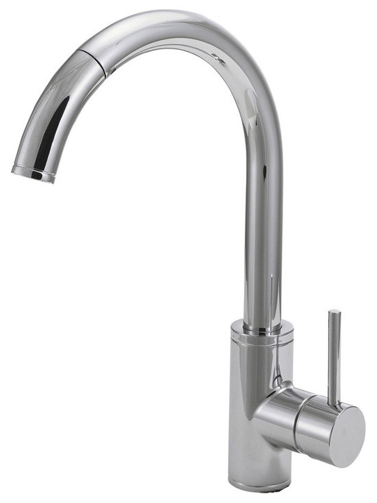Kitchen Faucets - Belle Foret BF403CP Pull Down Kitchen Faucet in Chrome - HDModel: FP0A5016CP