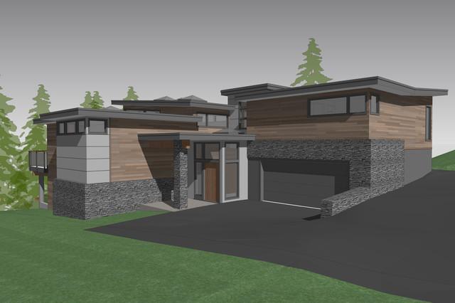 Hart Road contemporary-rendering