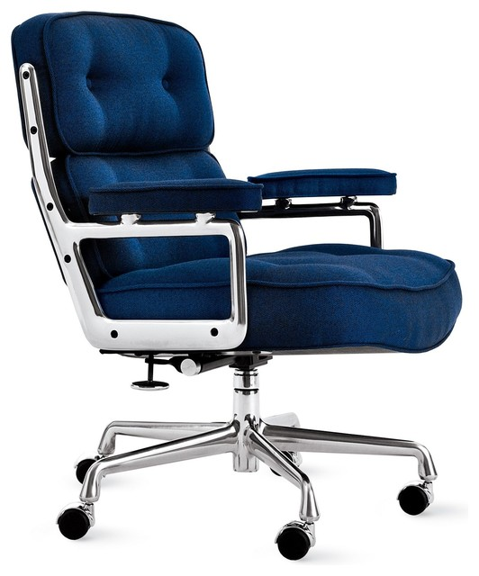 Eames Executive Chair In Messenger Fabric Modern Task Chairs