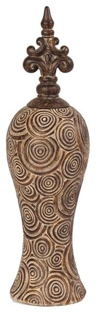 Howard Elliott Classic Antique Scrolled Aged Brown Tall Vase modern-vases