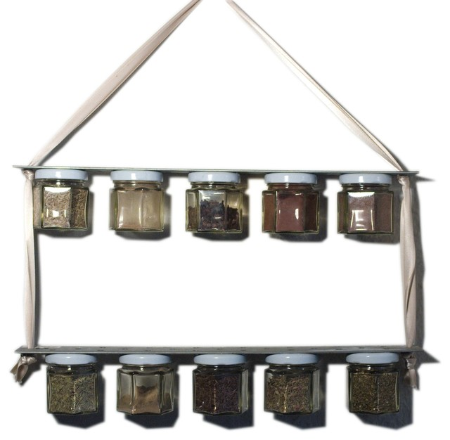 Junk Yard Chic industrial old fashioned rustic magnetic spice rack ...