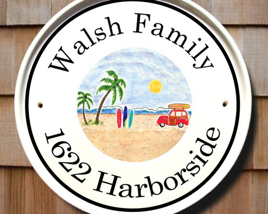 Beach Woodie Round House Plaques - To find out more and how to order click here:
